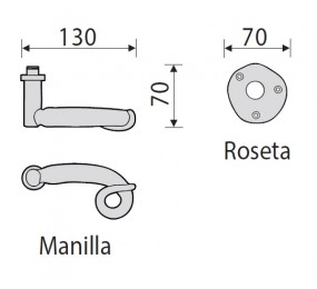 JUEGO MANILLAS FORJA JM11060R ROS. NUDO