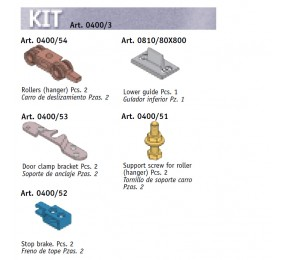 KIT ACCESORIOS 1 PUERTA 40KG 0400-3